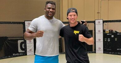 MMA news Francis Ngannou was brutally hit in the body by an action sports athlete Ryan Williams. Video.