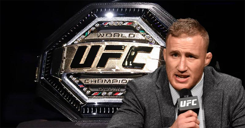 UFC news Justin Gaethje says The UFC has turned the championship belt into a laughing stock