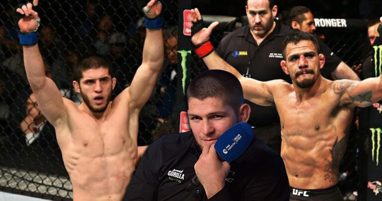 UFC news Khabib Nurmagomedov spoke about the upcoming fight between Islam Makhachev and Rafael dos Anjos.