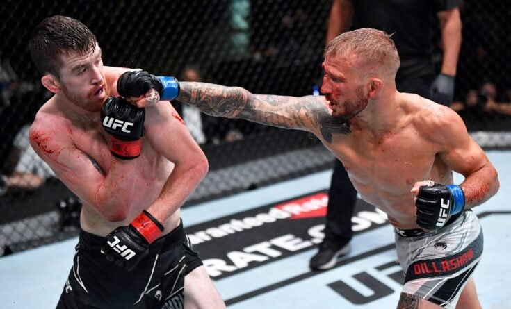 UFC news TJ Dillashaw said that he had to lie to referee Herb Dean to continue the fight with Cory Sandhagen